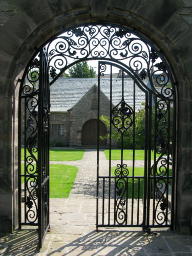Cast Iron Garden Gate or a Great Door for Wine Cellar Beautiful Scrolled Design